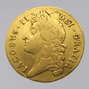 James II Gold Guinea 1697AD-0