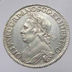 Oliver Cromwell AR Half Crown 1658AD-0