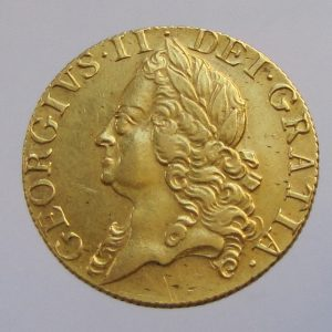 George II Gold Guinea 1749AD-0