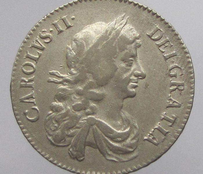 Charles II Silver Half Crown 1669AD-0