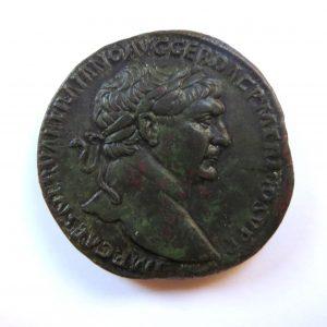 Trajan Bronze Sestertius 98-117AD-5758