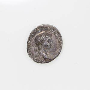 Claudius Silver Fouree Denarius 41-54AD-10838