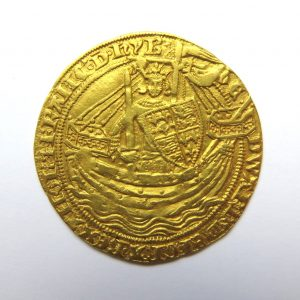Edward III Gold Noble 1327-1377AD Pre-Treaty Period Series D ext. Rare-6568