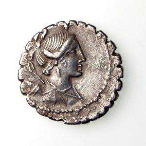 A. Postumius A. f. Albinus Silver Denarius 81BC-17630