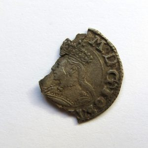 Mary Silver Penny 1553-4AD ext. rare-7057