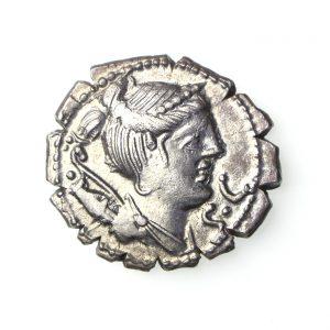 Ti. Claudius Tn.f.Ap.n. Nero Silver Denarius 79BC-17635
