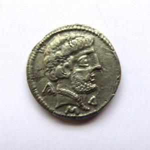 Iberia, Turiasu Silver Denarius Early 1st Century BC Rare-8000