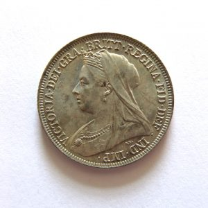 Victoria Silver Shilling 1894AD UNC-8713
