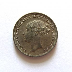 Victoria Silver Sixpence 1887AD UNC-8717