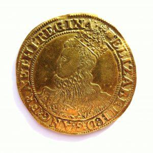 Elizabeth I Gold Pound 1558-1603AD Sixth Issue 1594-6AD-9609