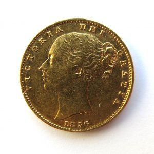 Victoria Gold Sovereign 1856AD-9601