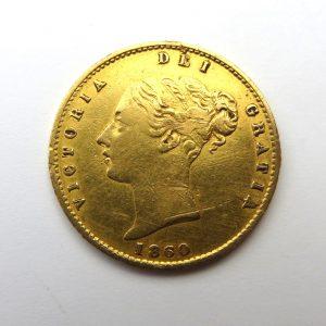 Victoria Gold Half Sovereign 1860AD-10135