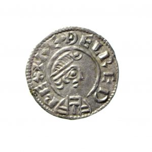 Kings of Wessex Aethelred I Silver Penny 865-871AD-11414
