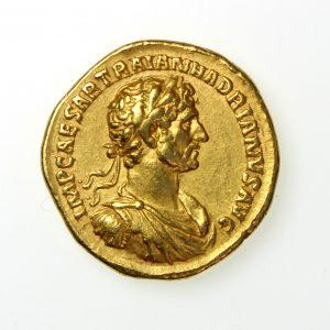 Hadrian Gold Aureus 117-138AD Rome-12631