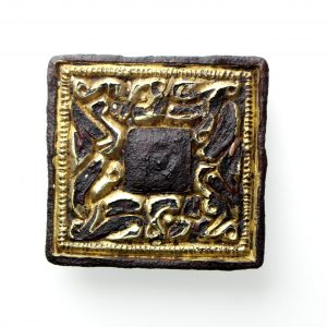 Anglo Saxon Gilded Chip Carved Mount, c.7th Century AD-11839