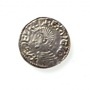 Aethelred II Silver Penny 978-1016AD Totnes mint ext. rare -11957