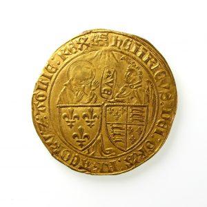 Henry VI Gold Salut D'0r 1422-1453AD Paris mint-12023