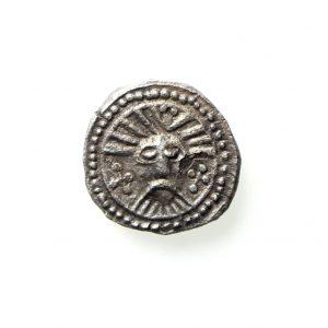 Anglo Saxon Silver Sceat 695-740AD Series X Wodan Head -12237