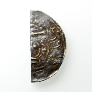 Stephen Silver Cut Halfpenny 1135-1154AD Taunton ext. rare -12675