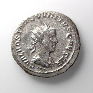 Hostillian Silver Antoninianus 251AD Pannonia v. rare-12699