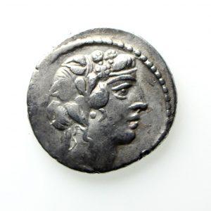 C. Vibius C.f. C.n. Pansa Silver Denarius 48BC-12914