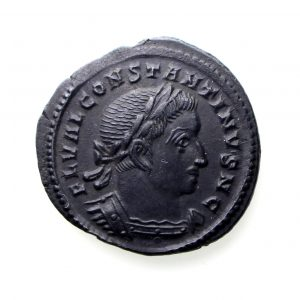 Constantine I as Caesar Bronze Half Follis 307-337AD Trier Rare-12990