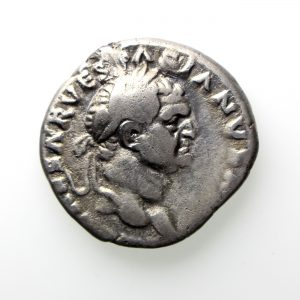 Vespasian Silver Denarius 69-79AD Rare -13425
