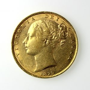 Victoria Gold Sovereign Young Head 1879AD-13426