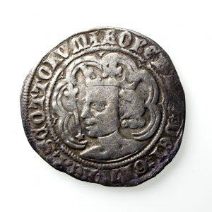 Scotland, Robert II Silver Groat 1371-1390AD Edinburgh -13611