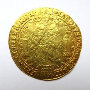 James I Gold Rose Ryal 1603-1625DAD-13521