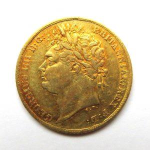 George IV Gold Half Sovereign 1825AD-13443