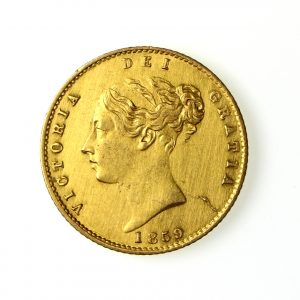 Victoria Gold Half Sovereign 1859AD-14401