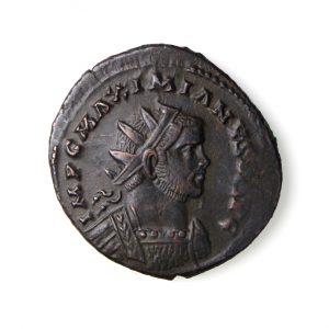 Maximianus Bronze Antoninianus Struck under Carausius 287-293AD-14423