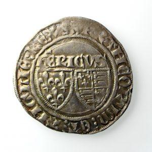 Anglo Gallic Henry VI Silver Grand Blanc 1422-1453AD-14460