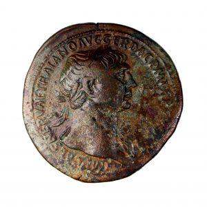 Trajan Bronze Sestertius 98-117AD-15123