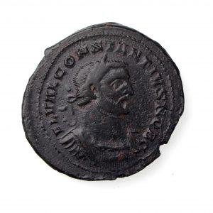 Falmouth Hoard Constantius I Bronze Follis 293-305AD As Caesar London -15166