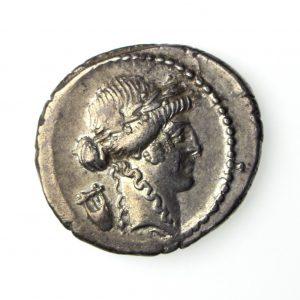 P Clodius Turrinus Silver Denarius 42BC-16125