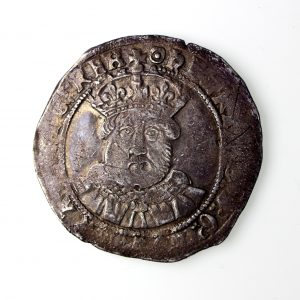 Henry VIII Silver Testoon 1509-1547ADF Third Coinage 1544-47AD lovely metal & extraordinary portrait -16153