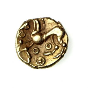 Regini Gold Quarter Stater 'Beaded Tail' type 55-40BC ABC590 excess. rare, 3 known-16403