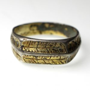 15th Century Silver Gilt Finger Ring -16485
