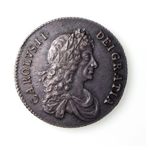 Charles II Silver Shilling 1660-85AD 1668AD EF-16698