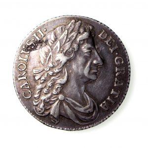Charles II Silver Shilling 1660-85AD 1684AD GVF-16701