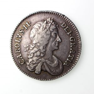 Charles II Silver Shilling 1660-85AD 1668AD-16703