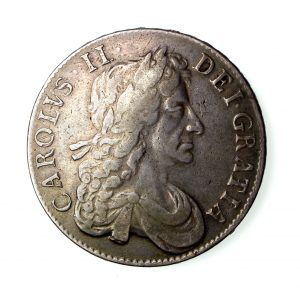 Charles II Silver Crown 1660-85AD 1680AD-16710