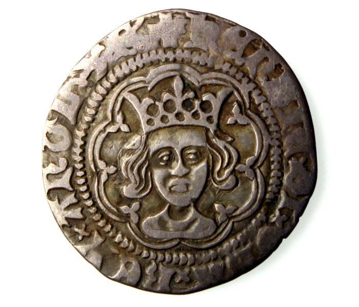 Henry VI Silver Halfgroat 1422-61AD Rosette Mascle London-16898
