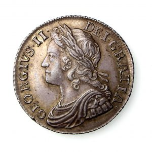 George II Silver Shilling 1727-60AD 1739AD wonderful-17079