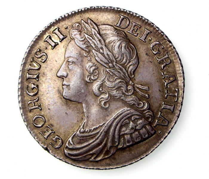 George II Silver Shilling 1727-60AD 1739AD wonderful-17079