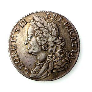 George II Shilling 1727-60AD 1758AD-17080