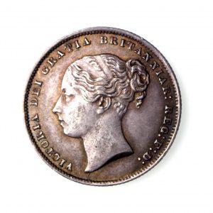 Victoria Silver Shilling 1837-1901AD 1866AD-17092