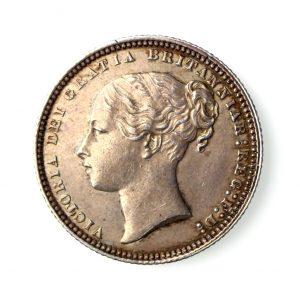 Victoria Silver Shilling 1837-1901AD 1871AD-17094